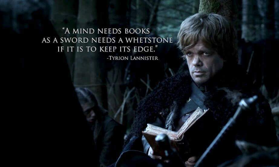 Tyrion on reading