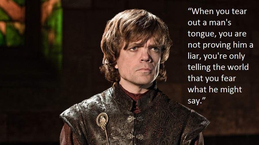 What Tyrion can teach